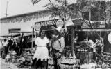 Olvera Street in front of where El Paseo is now. Pictured is the Durango outside shop with...