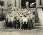 1954 University of California San Fransisco's Dentistry graduating class. Annie Chin Siu is the...