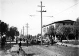 Preparing the Pacific Electric right-of-way, Glendora