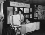 New York Times booth at L.A. Public Library, view 1