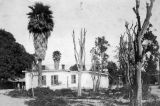 William Wolfskill adobe and bare trees