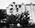 Transportation 'Tally Ho' at Mission San Gabriel Arcangel