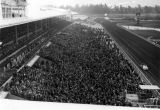 Enormous crowds at Santa Anita Racetrack, view 4