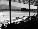 Grandstand under construction, Santa Anita Racetrack