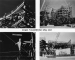 4 views of Walt Disney Concert Hall construction