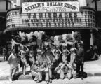 Chorus girls and jesters, group photo