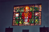 St. Mariana de Paredes Catholic Church, stained glass window