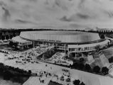 Drawing of the exterior of the Sports Arena