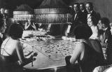Socialites playing roulette, French Riviera