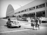 Workers return to the Douglas Aircraft Company