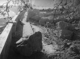Boulders on Riverside Drive-Dayton Avenue Bridge after the Elysian Park landslide