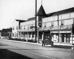 Exterior view of the Colonial Hotel in Oxnard