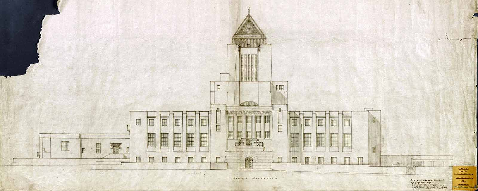Plans of the Los Angeles Central Library
