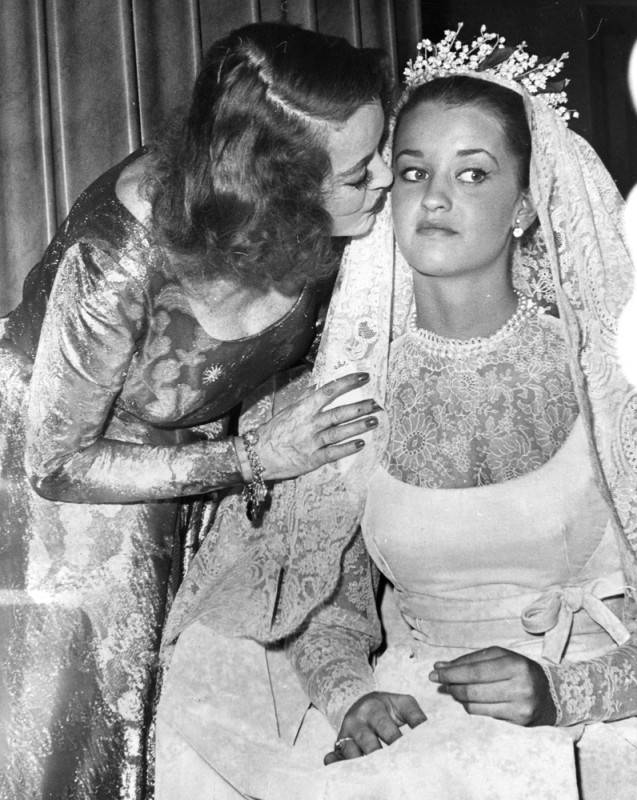 Bette is shown with 16-year-old bride-to-be B.D. before the wedding in 1963.