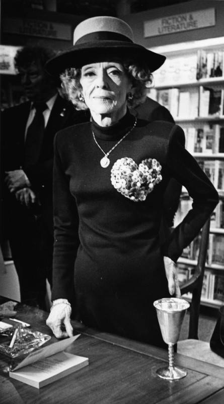 Bette Davis at a 1988 book signing in Hollywood.
