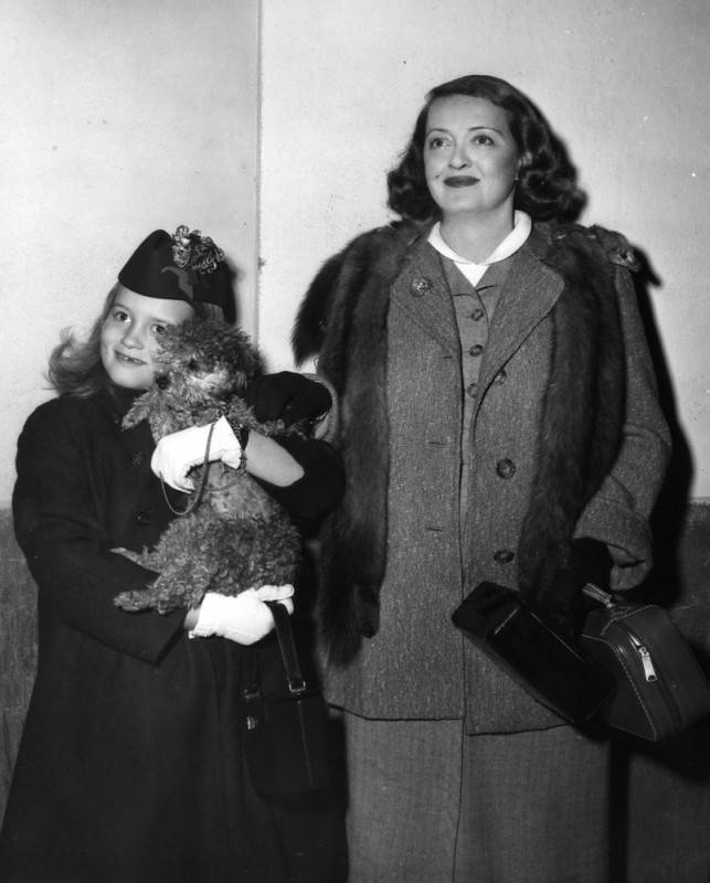 Bette, daughter B.D., and a canine friend in 1955.