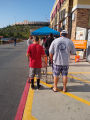 People waiting in line to enter Home Depot