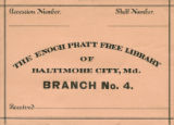 Enoch Pratt Free Library, Branch No. 4, Baltimore City, M.D.