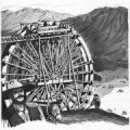 Sketch of the original water wheel - 1857