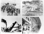 Four Photo composite of the Los Angeles Aqueduct construction