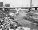 Los Angeles River before channel was concrete-lined