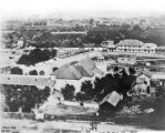 The Plaza, looking east, with first reservoir to the right of the picture, as it appeared in 1865