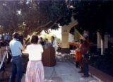 Indian Memorial Garden dedication- April 17, 1986 left to right: Colleen Colson, Jerry Smart, Iron...