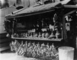 Photograph of pottery booth on Olvera Street