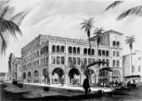 Architect Burnett C. Turner's  rendering of a proposal for remodeling of the Latin American House