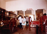 Interior shot of the Plaza Firehouse with crowd