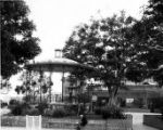 Plaza and Kiosko bandstand just east and south of original plaza site between Main Street and Los...