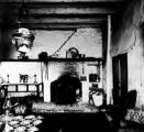 Negative of the parlor at the Avila Adobe