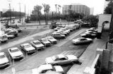Parking lot at Los Angeles Street and Alameda Street that is now the Indian Gardens