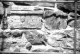 Photograph of the supporting wall for the Pico House