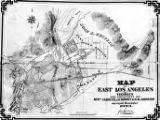 Map of east Los Angeles and vicinity the property of Mess. J.S. Griffin, J.G. Downey & H.M....