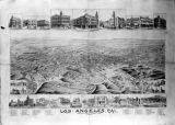 Los Angeles, California looking southwest to the Pacific Ocean, 1887.
