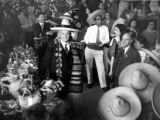 Harry Chandler at birthday party at Olvera Street