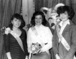 Pat Medina, Maria Elena Barba, Margarita Nunez, part of the Mardi Gras court