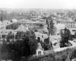 Photograph taken of Plaza and Pico House from Fort Hill