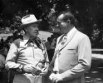 Hubert Laugharn talking to George Murphy