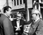 Hubert Laugharn talking to Mario Valadez and Sousa at the Sunset Boulevard closing