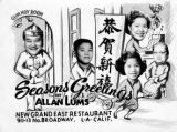 A seasons greetings card from the Allan Lums.