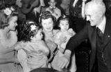 Los Angeles Times press release photo of Harry Chandler's Birthday. The photo is of June Sterling,...
