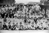 Right side of Los Angeles Chung Hua School group picture. On the back: Harry Quillen 418 s. Ramona...