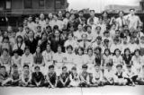 Center of Los Angeles Chung Hua School group picture. On the back: Harry Quillen 418 s. Ramona...