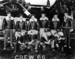 Photograph of Delbert Wong's B-17 combat crew which flew with the 401st bombardment group.