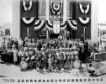 Large social gathering of the Chinese Consolidated Benevolent Association. In front are the Los...