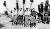 Peter Soo Hoo Sr. with Bill Wong, David Soo Hoo, Layne Tom Sr. at the gun club.