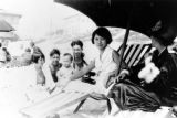 Peter Soo Hoo Jr. at the beach with is mom, Maimie, Howard and others.