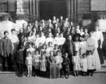 Lillie Louie, Congregational Church group in front of Los Angeles old courthouse